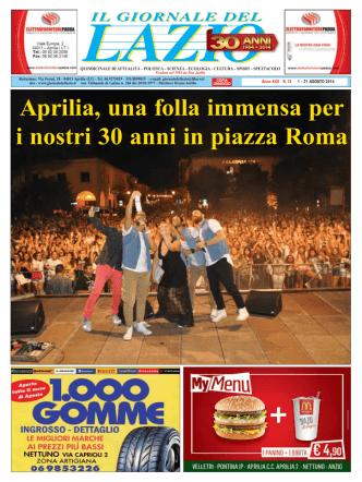 Aprilia, una folla immensa per i nostri 30 anni in piazza Roma Con il
