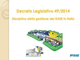 Decreto Legislativo 49/2014 - Stati Generali della Green Economy