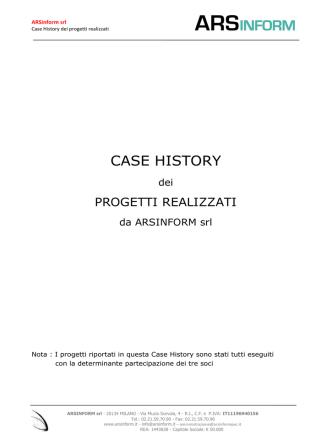 Case History dei progetti realizzati
