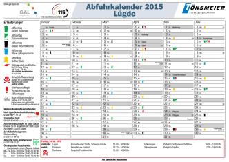 Abfuhrkalender 2015 Lügde