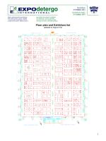 Floor plan and Exhibitors list