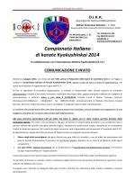 INVITO Campionato Italiano Karate Kyokushinkai