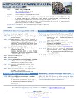 Programma Meeting delle Famiglie A.I.s.EA (Roma