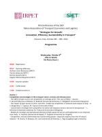 XVI Conference of the SIET Italian Association of Transport