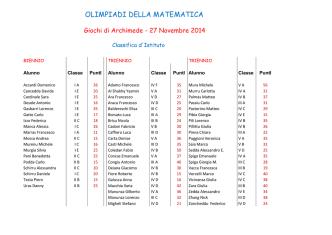 Classifica Archimede_2014 - Liceo Classico e Scientifico Euclide