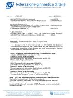 Test Nazionali GAM 2014 - Comitato Regionale Campania F.G.I.
