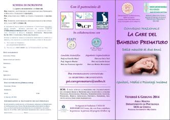 Brochure Convegno Care Bambino Prematuro