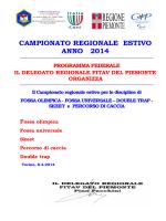 REGOLAMENTO DEL CAMPIONATO ESTIVO PIEMONTE AGG. ALL