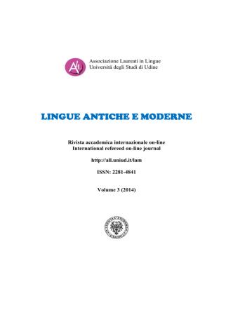 current issue - ALL - Associazione Laureati in Lingue