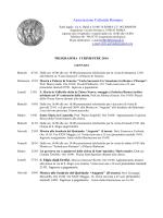ACR - Programma I trimestre 2014