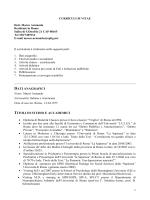curriculum vitae - Terzocentro di psicoterapia cognitiva, Roma