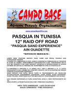 PASQUA IN TUNISIA