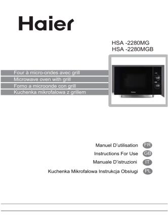 0MGB HSA -228 0MG HSA -228 - Haier.com Worldwide