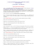 Regolamento del concorso - 10° Ars nova International Music