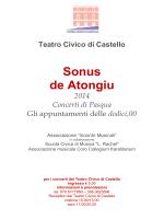 Teatro Civico di Castello Sonus de Atongiu 2014 Concerti