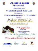 PROGRAMMA 13 Trofeo Nazionale Judo
