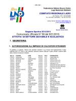 Com. Uff. LND SGS ALR-GIR 09.01.2015
