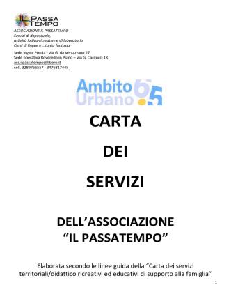 """Associazione """"Il Passatempo"""" - Ambito Territoriale 6.5 di Pordenone"""