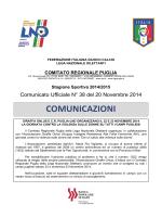 Comunicato Ufficiale n. 38