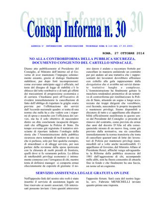 Consap Informa n.30 del 27.10.14