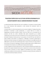 position paper sicch sui futuri criteri governativi di acceditamento
