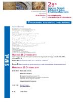 programma - Società Italiana di Ematologia