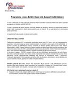 Programma corso BLSD ( Basic Life Support Defibrillation )