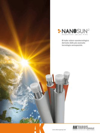 Bi-tubo solare nanotecnologico derivato dalla più avanzata
