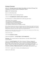 Preliminary Programme EEBA 2015: Synergies between Eye Banks