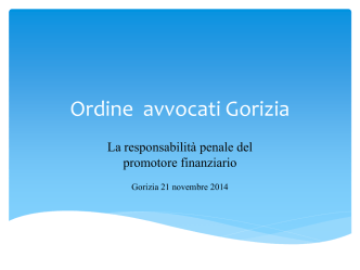 (relazione dott. Raffaele Tito dd. 21.11.2014)