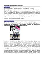 Sulla strada – Rassegna stampa 25 ago 2014 PRIMO