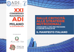 Programma xxi congresso adi milano 2014