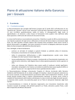 Piano di attuazione italiano della Garanzia per i Giovani