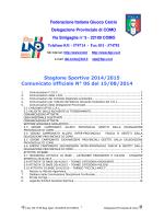 COMUNICATO n.06 del 15/08/2014