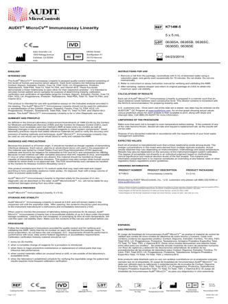 AUDIT® MicroCVTM Immunoassay Linearity