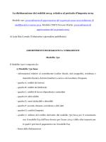 La dichiarazione dei redditi 2014, relativa al periodo d