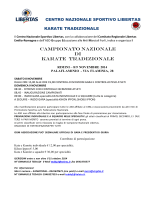 Campionato nazionale Karate Tradizionale - Libertas