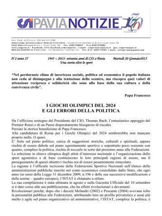 comunicato nr. 2 del 20/01/2015