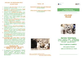 COLONIE FELINE Servizio Veterinario