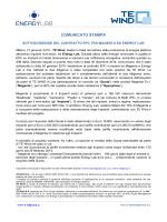 te wind: sottoscrizione del contratto epc tra magenta ed - AIM