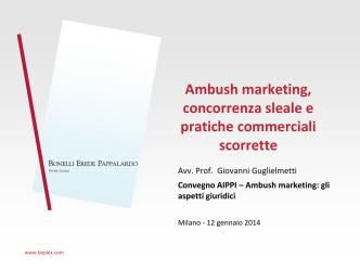 Ambush marketing, concorrenza sleale e pratiche commerciali