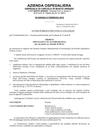 avviso inc. L.P. pneumologia 2015