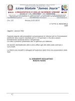 circolare 122 - Liceo Statale J.Joyce