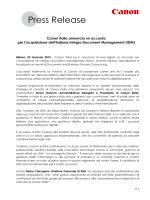 Press Release - Prima Pagina