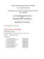 Calendario esami di Promozione e Conferma a.a. 2013