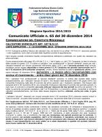 cu 65 2014-2015 - Comitato Regionale Campania