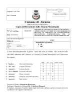 Copia deliberazione della Giunta Municipale N