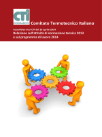 Attività normativa CTI - Comitato Termotecnico Italiano