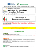 Bollettino tecnico n. 30 del 10 settembre 2014