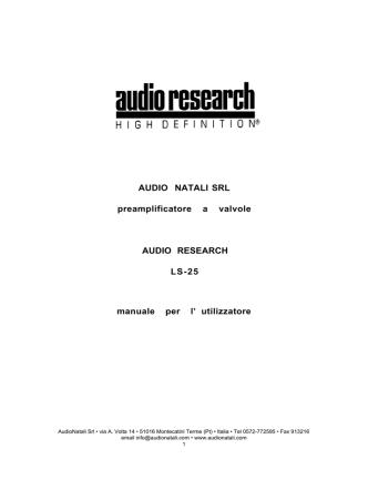 ARC OWM LS25 - Audio Natali